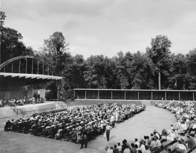 Rainbow Stage at Kildonan Park in 1954