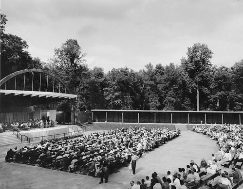 Rainbow Stage at Kildonan Park in 1954