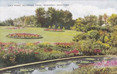 The Lily Pond at Kildonan Park from the 1900-1910s
