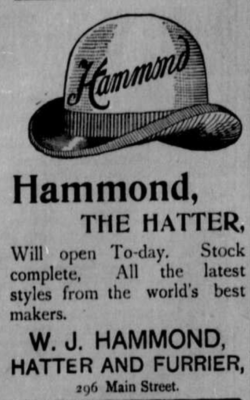 An ad for William Hammond's store (1895)