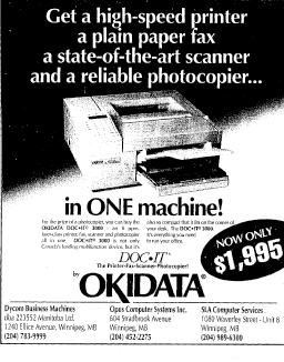 Advertisement for Opus Computer Systems.