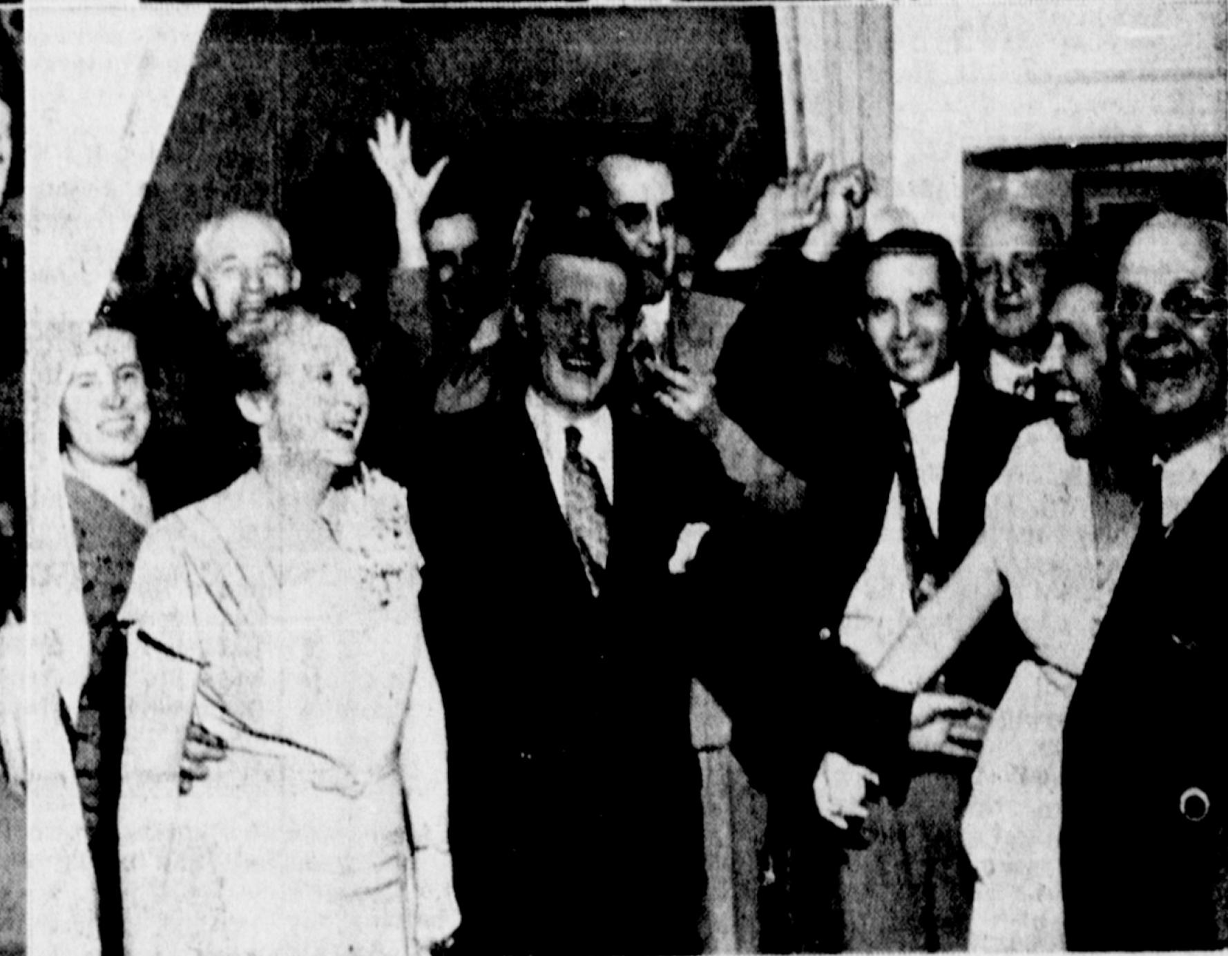 Mr. and Mrs. L Mutch (centre left)