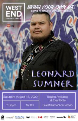 A scheduled livestream performance by singer Leonard Sumner
