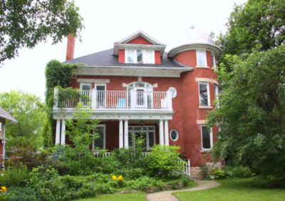 The front porch and second storey balcony on Chevrier House at 22 Middle Gate may look similar to those originally built on 606 Stradbrook Avenue