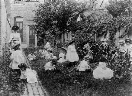 A school garden circa 1900