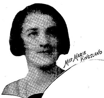 Marie Kingsland - A daughter of Mr. & Mrs. Kingsland