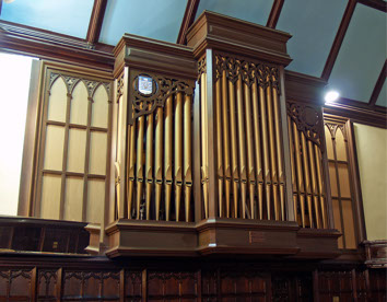 Organ façade - chancel
