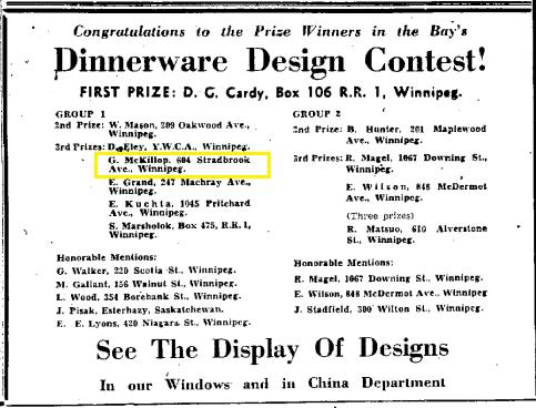 Winners of a Dinnerware Design Contest
