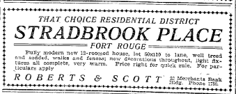 Advertisements for A Home on Stradbrook.