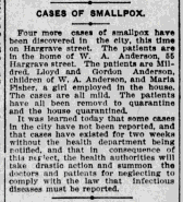Cases of Smallpox at the Anderson's.