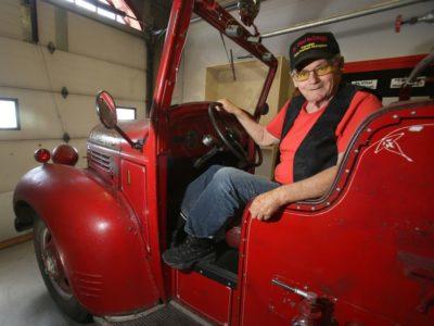 Bob Holliday on the Fargo Truck