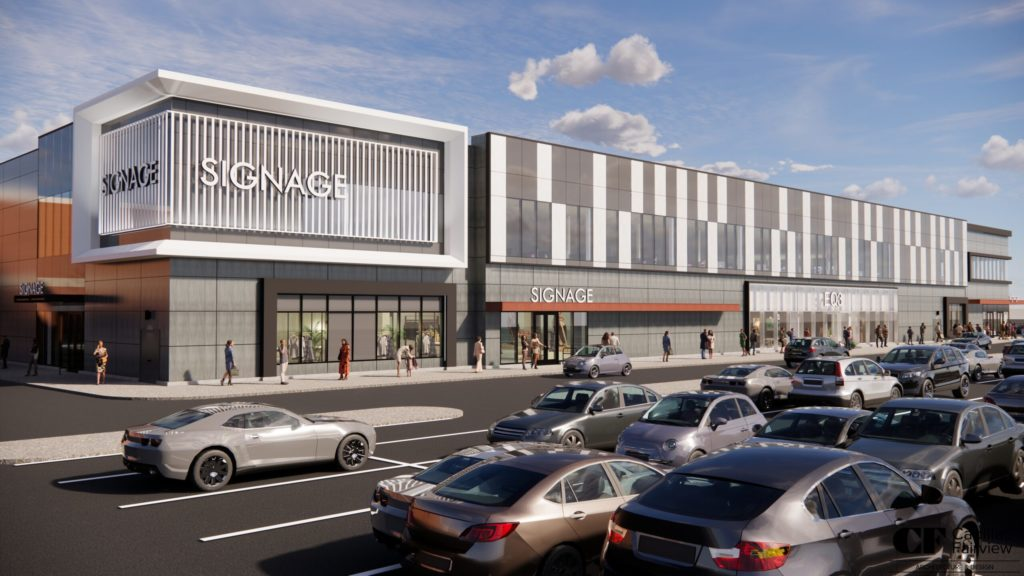 Rendering of the new Sears space