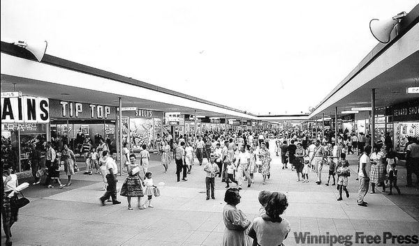 Polo Park mall when it was first built.