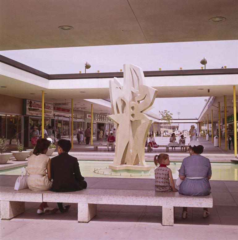 Inside Polo Park mall.